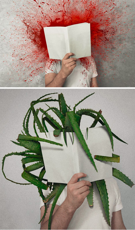 The Power of Books : 6 illustrations graphiqueslittérales