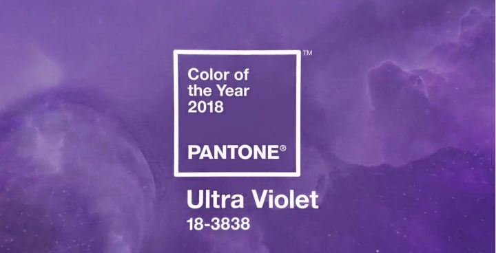 PANTONE 18-3838 Ultra Violet : la couleur officielle de 2018